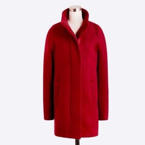 NWT J.Crew Factory City Coat - Dark Wine sz 2
